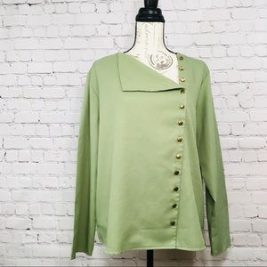 Tops - Women's Green Blouse Button Down size Large